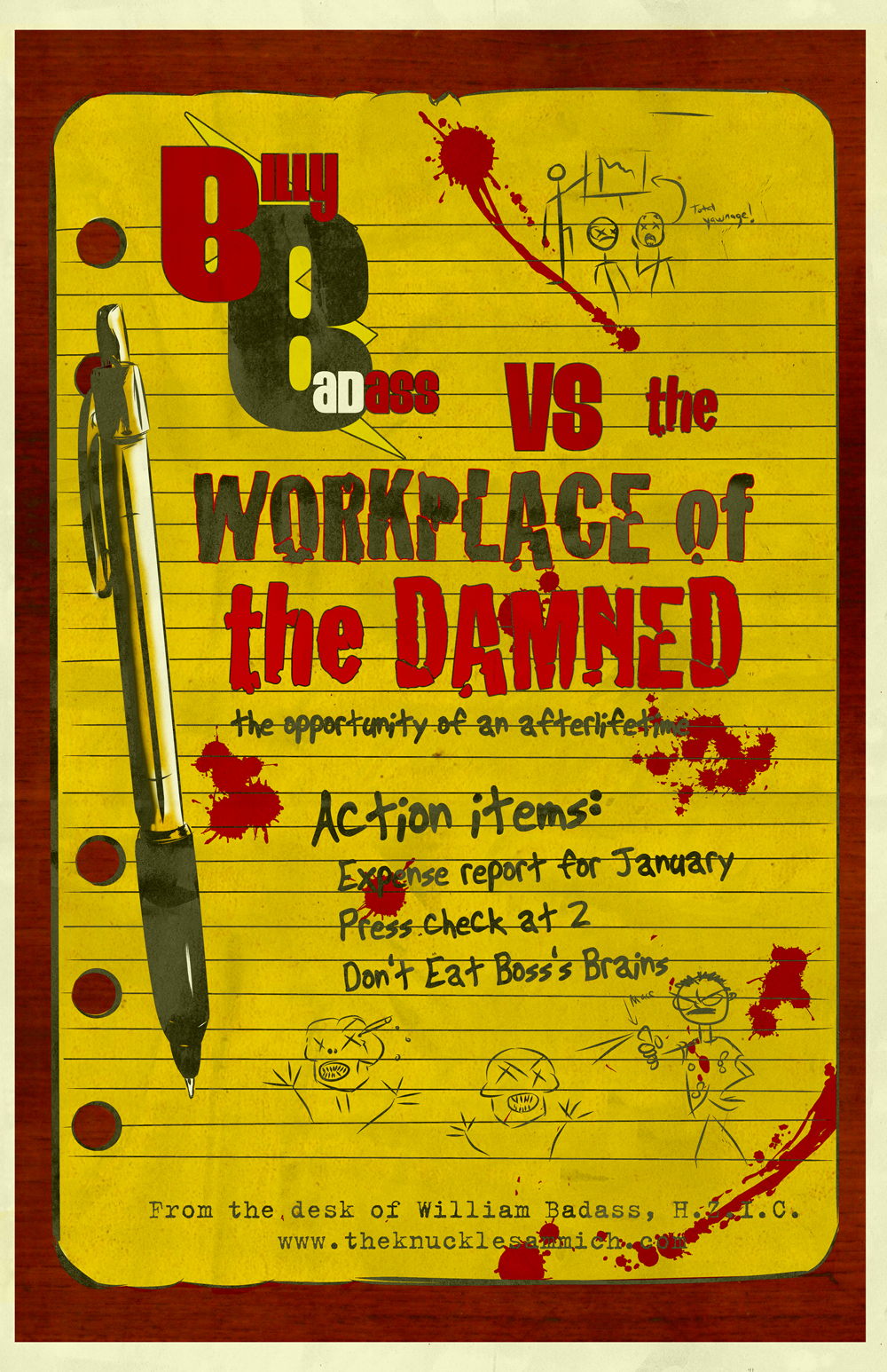 Billy Badass Vs. The Workplace of the Damned